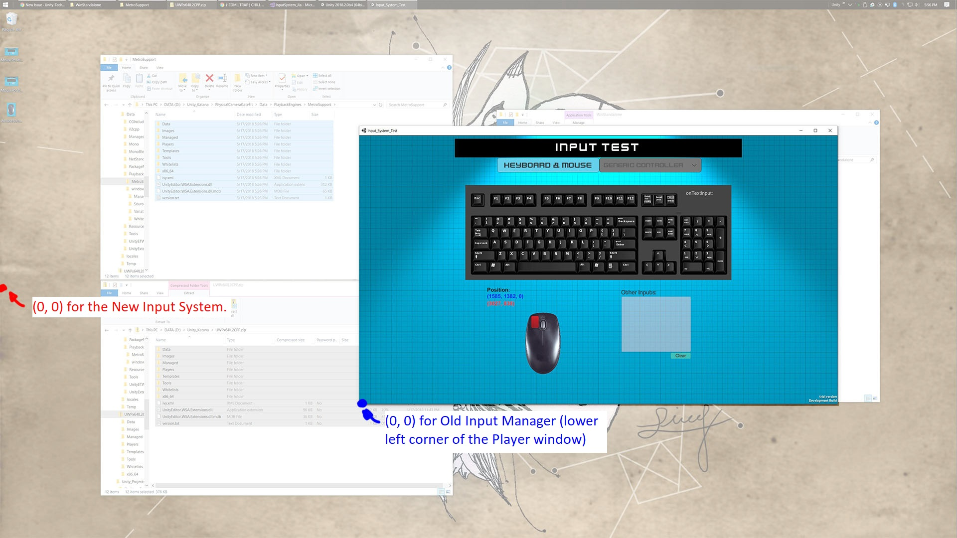 Windows Standalone] The origin of the mouse position is not