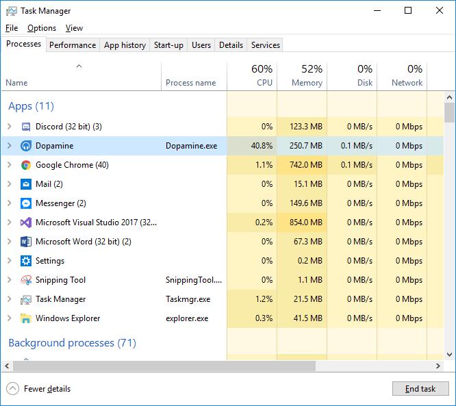 Massive CPU Usage · Issue #672 · digimezzo/Dopamine · GitHub