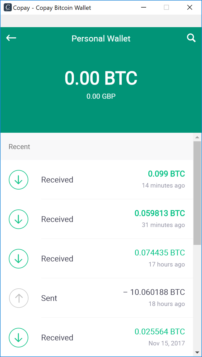 BTC Transaction in Copay Wallet that I Didn't Make · Issue