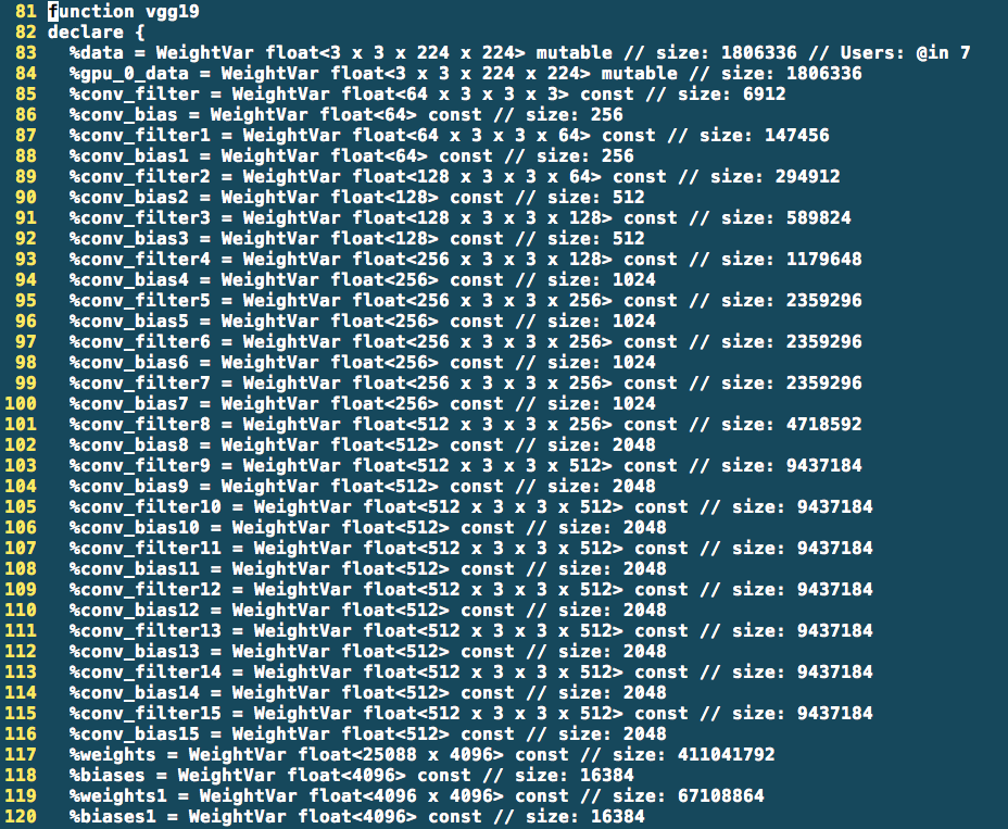 vgg19: Some FP weights are not used after quantization anymore, but