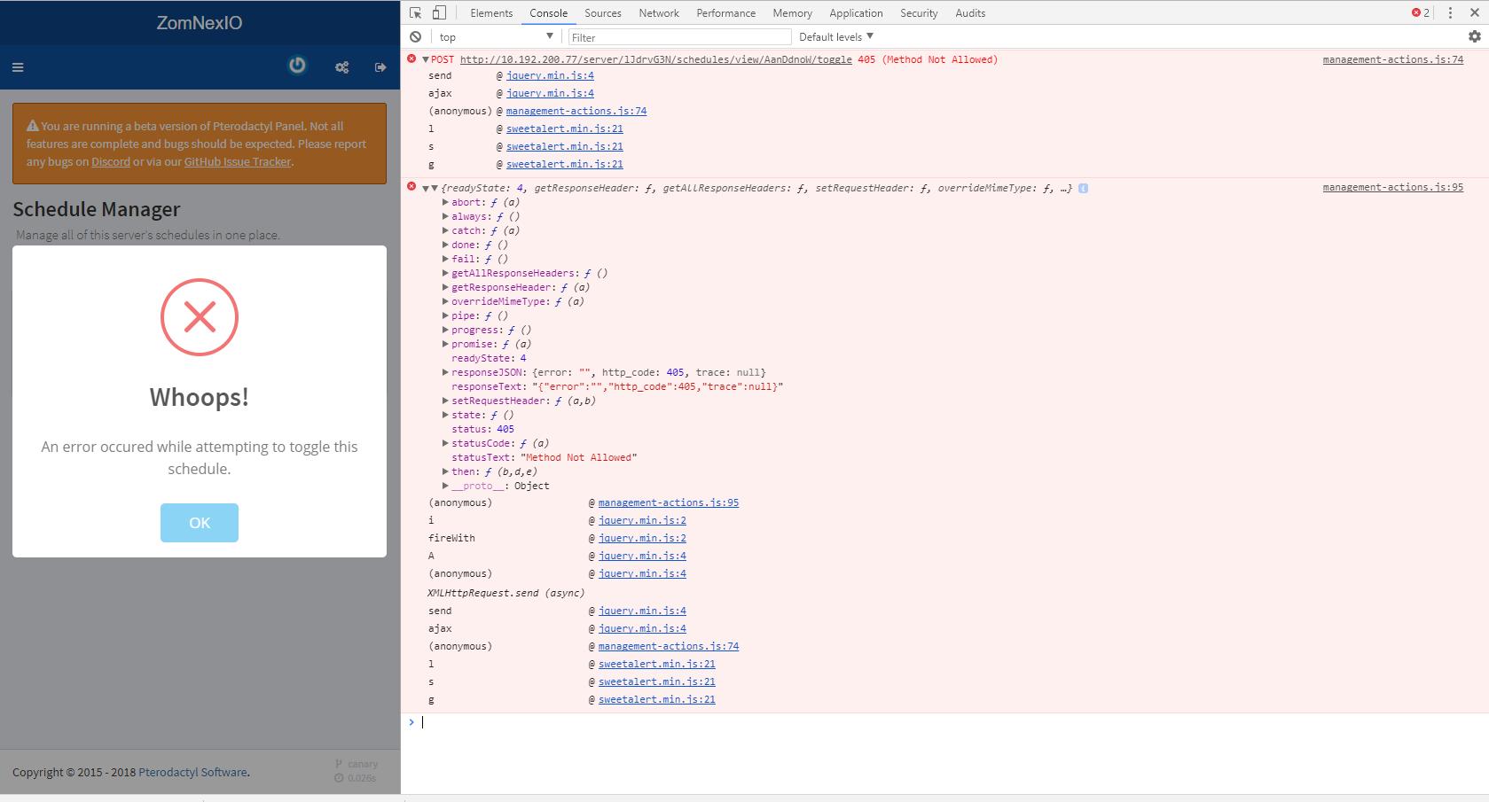 Toggle Schedule · Issue 20 · pterodactyl/panel · GitHub