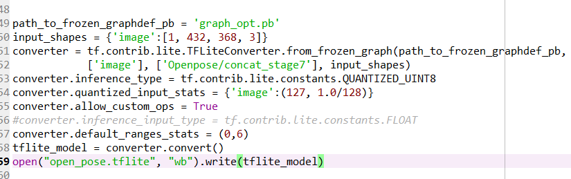 model convertion from optimized pb to quantized pb model fail after