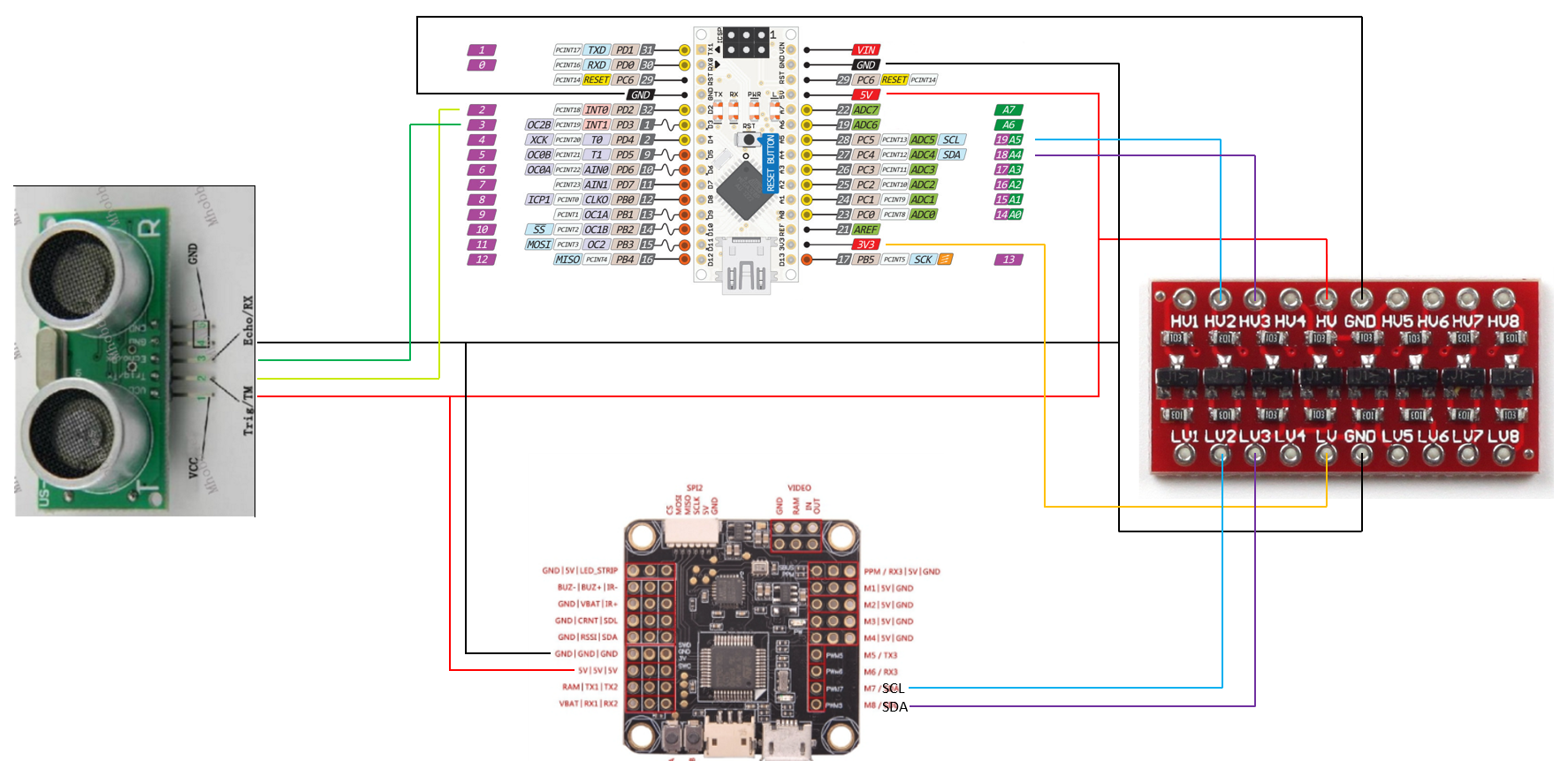 Developers - Sonar module I2C -
