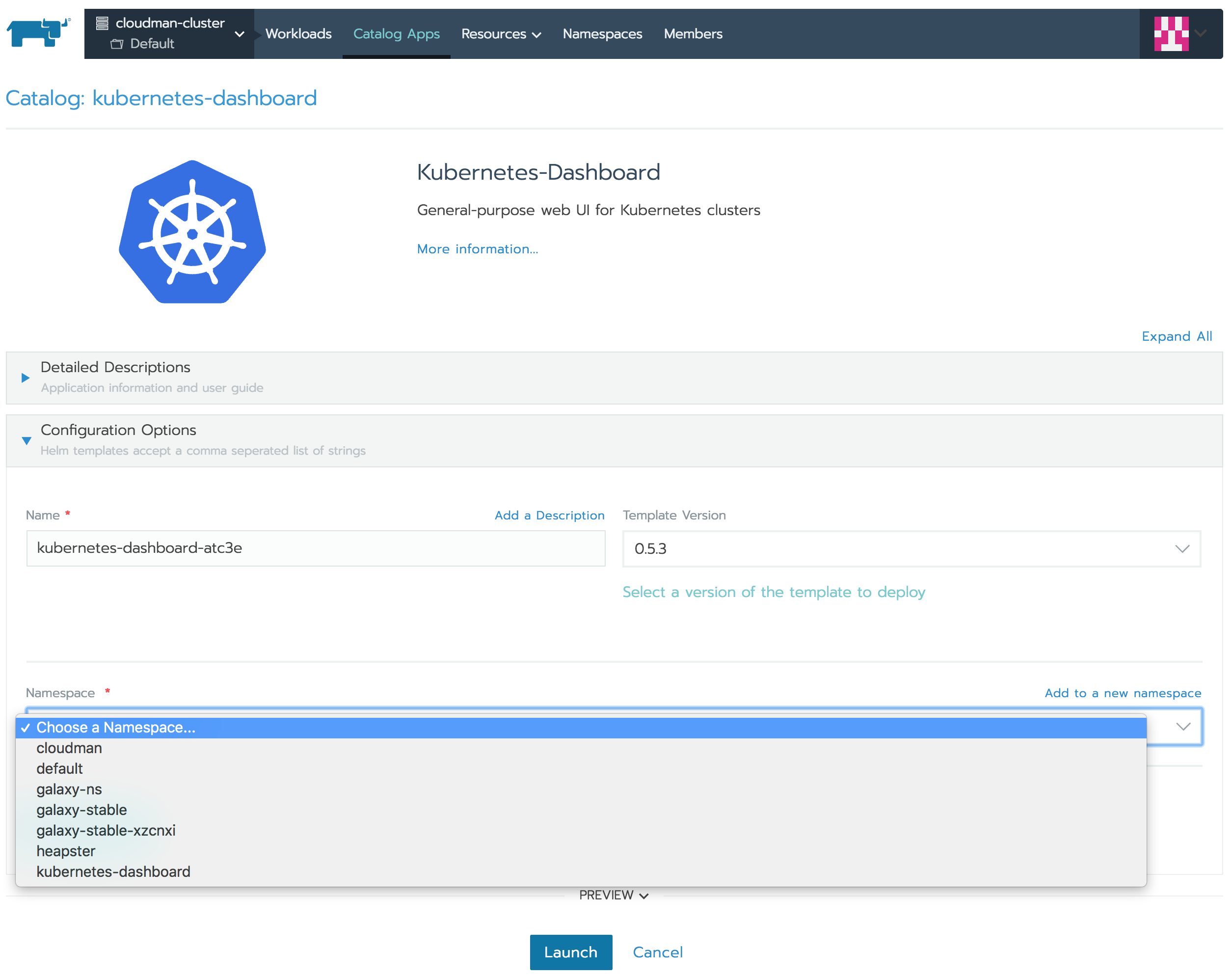 Accessing the Kubernetes Dashboard in Rancher 2 0 · Issue
