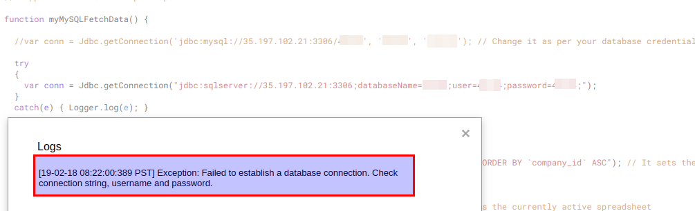 You can pull data from MySQL database to Google doc
