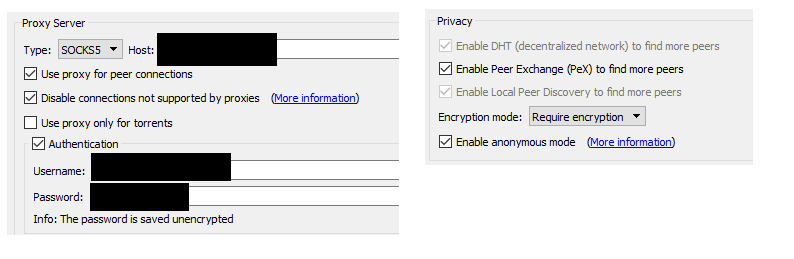 No connections/torrents won't start when using a proxy