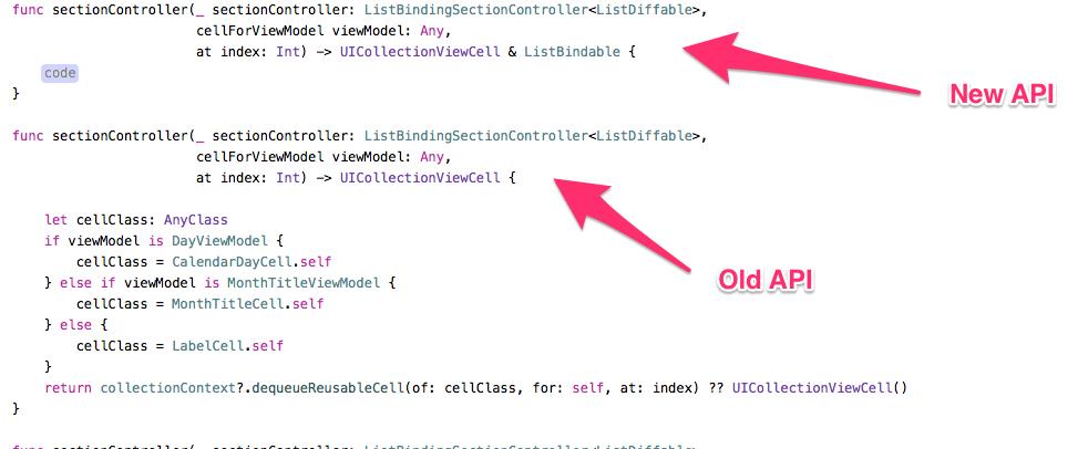 Swift 4 Examples Update · Issue #819 · Instagram/IGListKit
