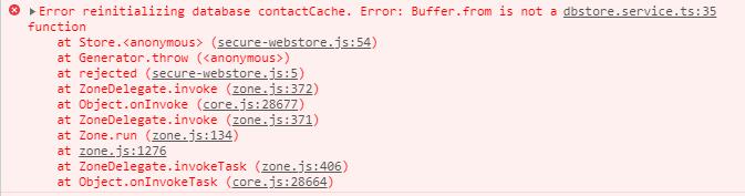 error buffer from console