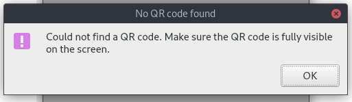 Capture QR code does not work on Fedora 30 · Issue #395 · Yubico