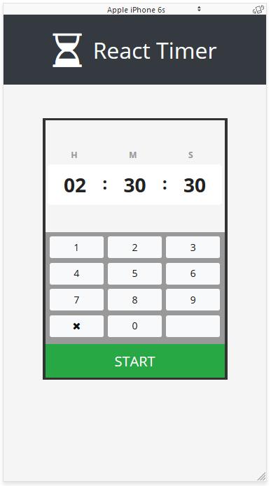 GitHub - drminnaar/react-timer-advanced: A basic countdown timer