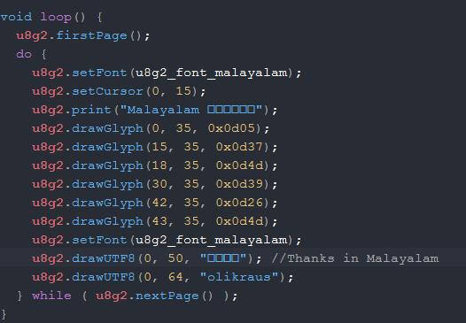 Custom Font Malayalam Language · Issue 1015 · olikraus