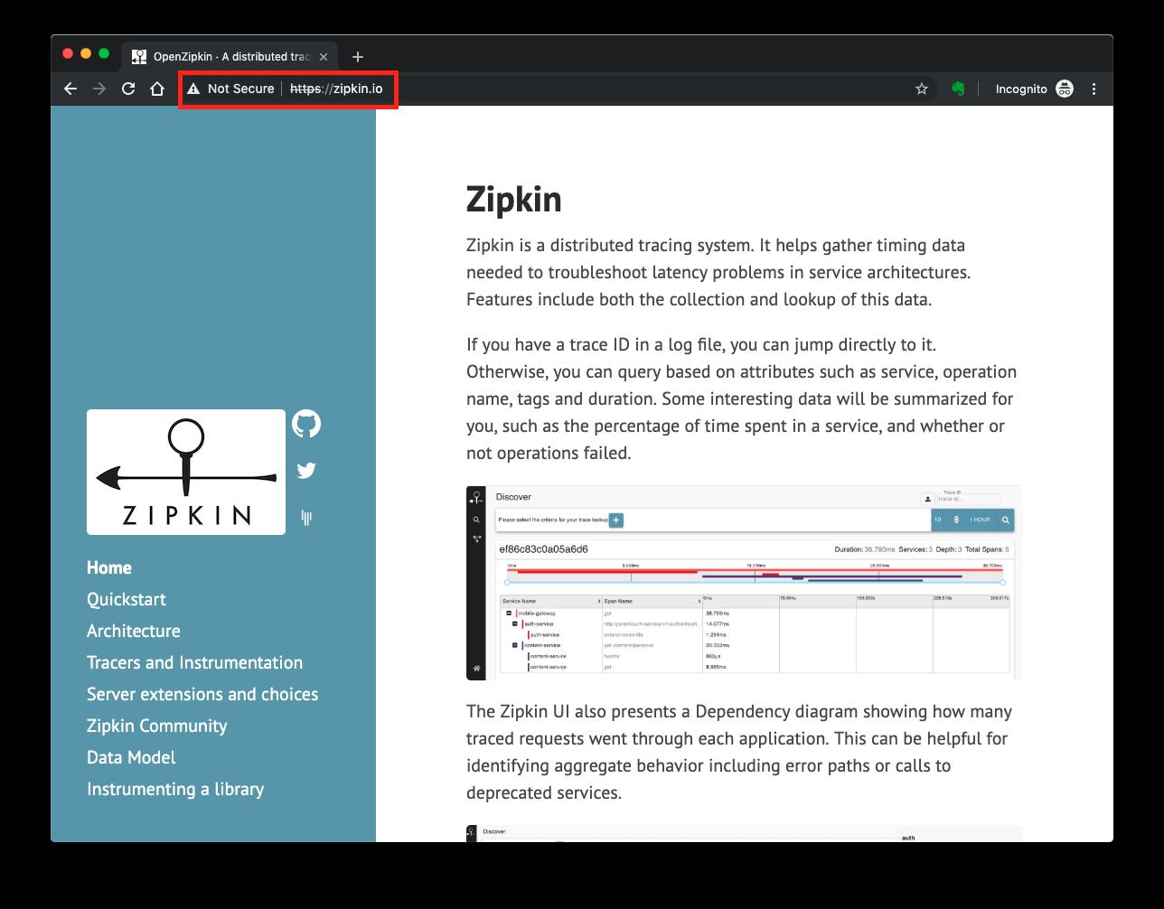 Zipkin website does not render correctly · Issue 135