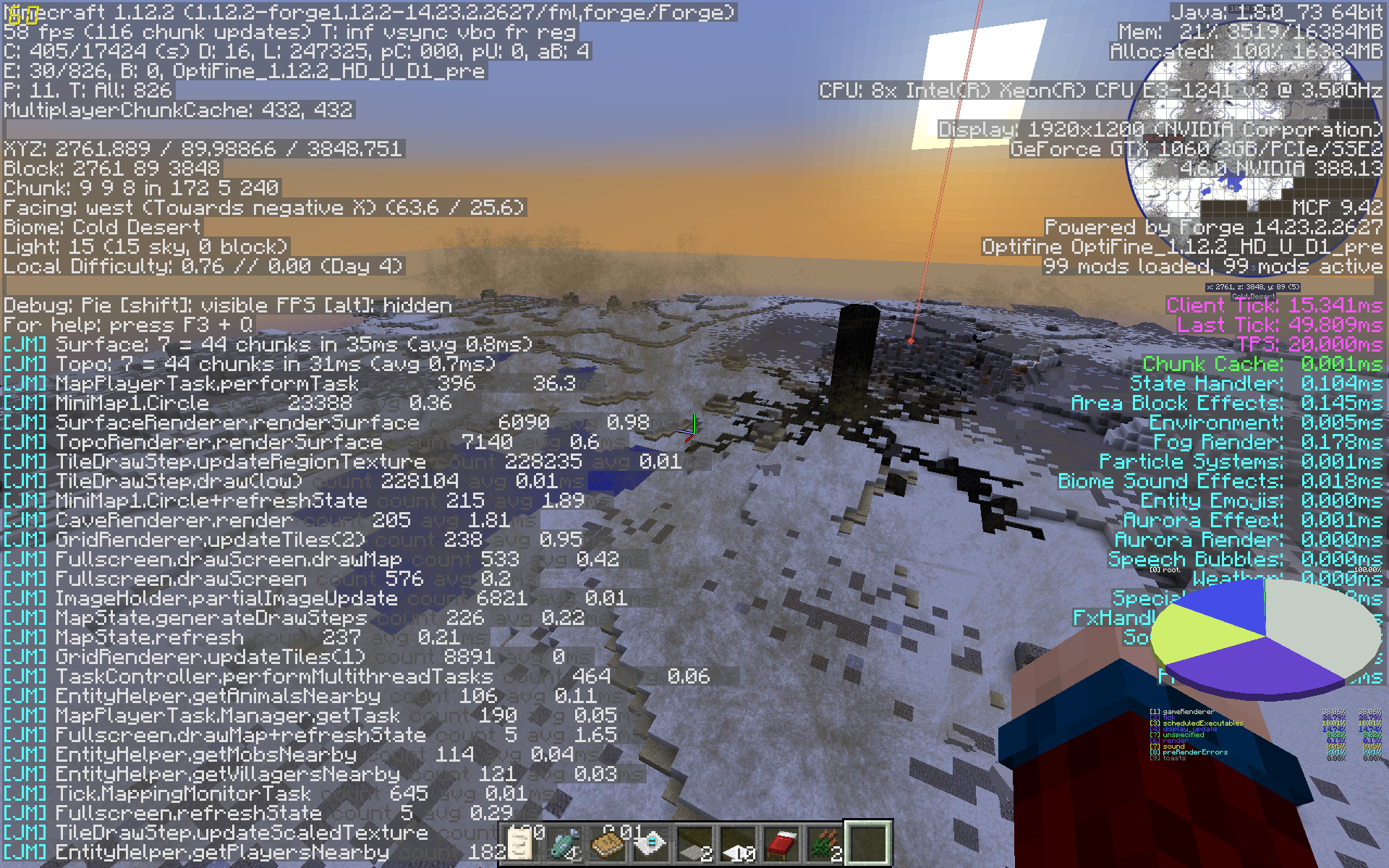 Biomes O' plenty biome Cold dessert has sandstorms · Issue #221