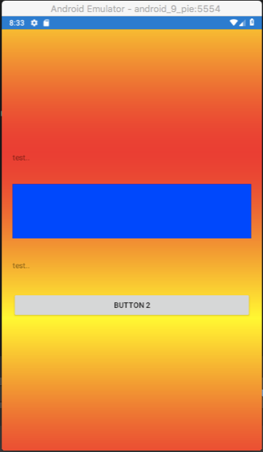 Gradient view issue on Mac OS Android emulator API level 28 (Pie