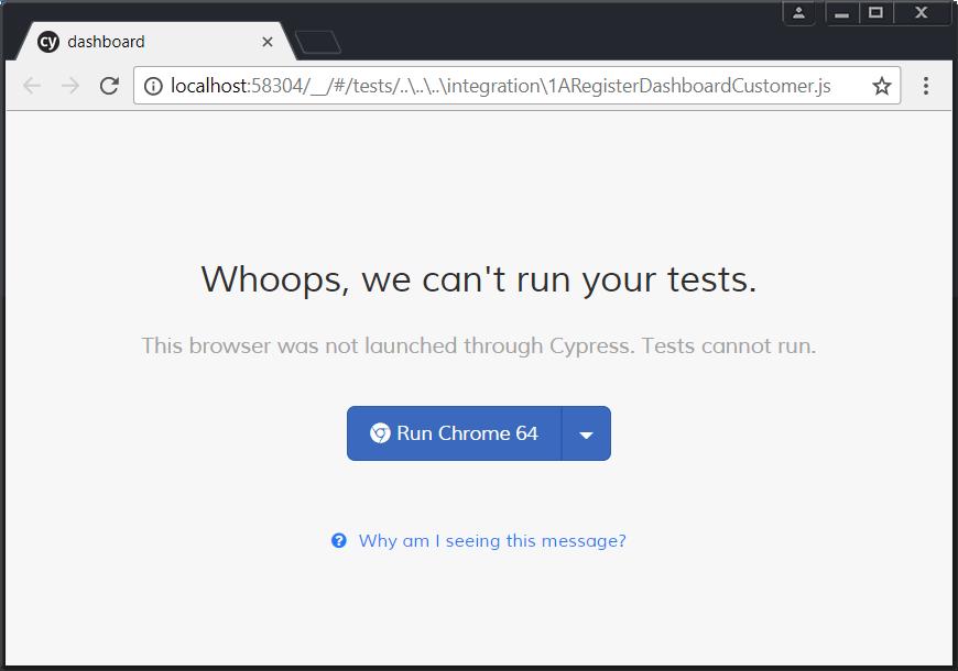 Browser not launched through Cypress problem · Issue #1239 · cypress
