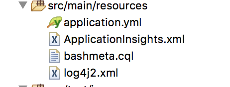 place AppInsight xml in spring boot embedded tomcat