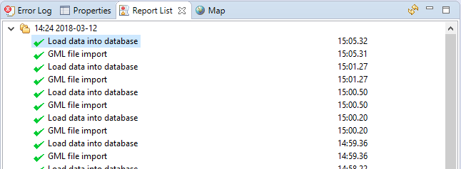 GML file import error is not displayed in Report List