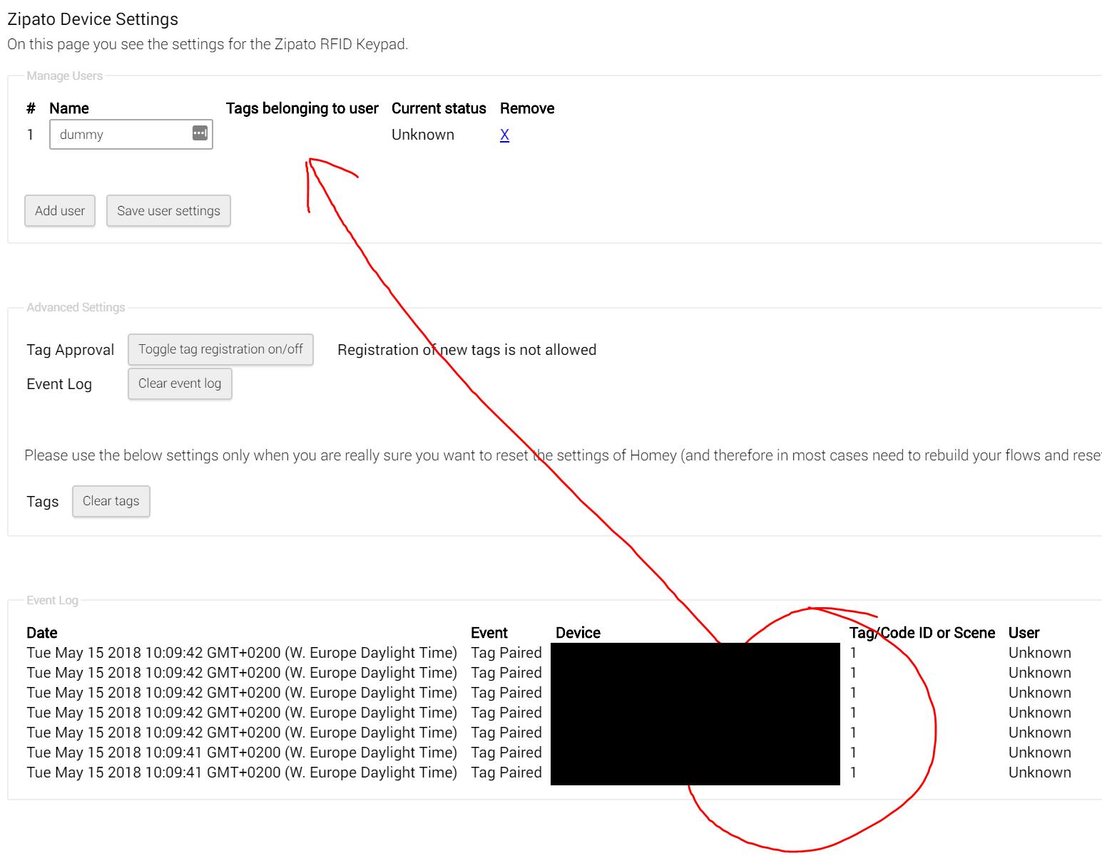 RFID keypad not supported · Issue #12 · aartse/athom zipato