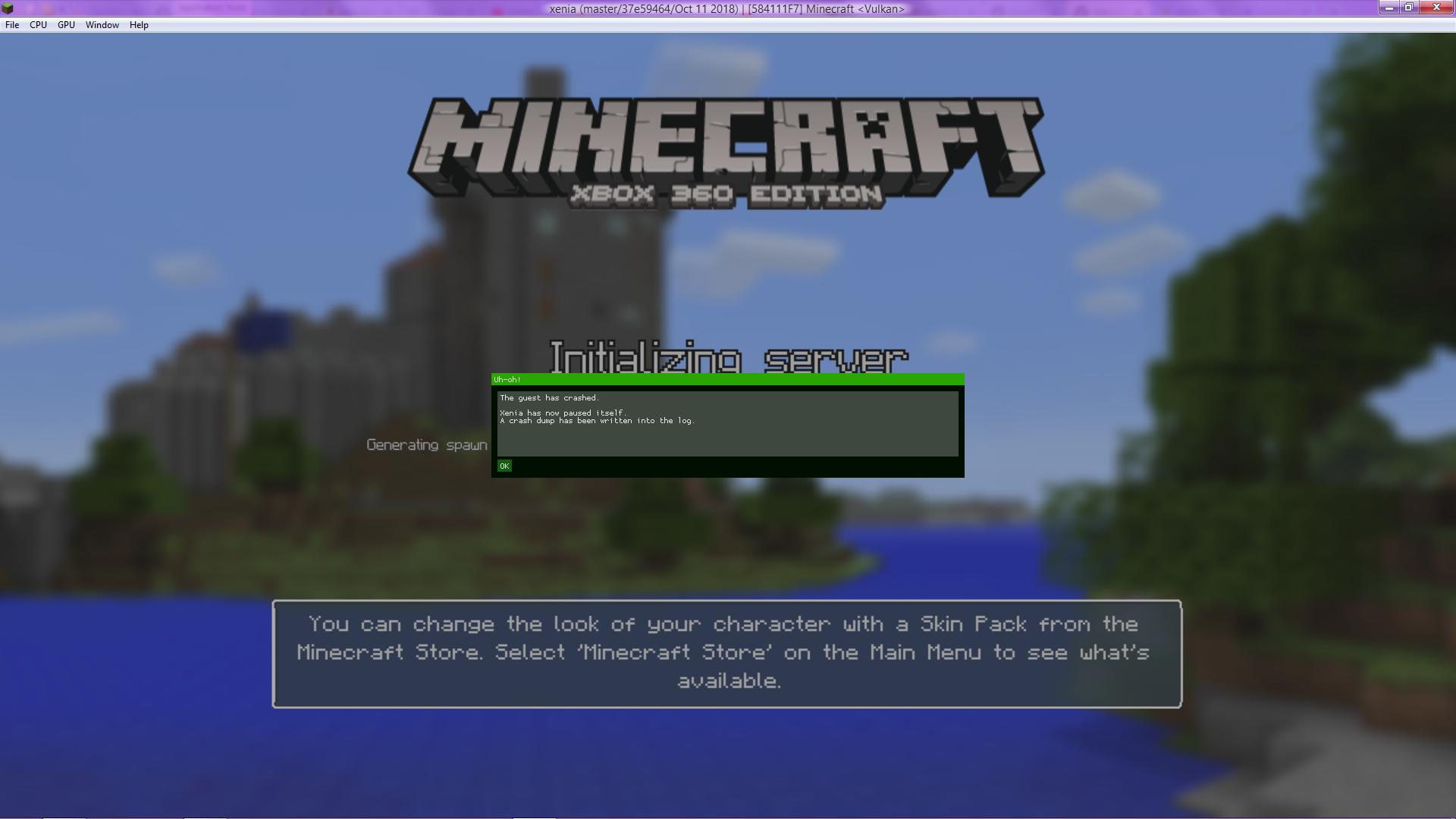 8F8 - Minecraft: Xbox 8 Edition · Issue #8 · xenia-project