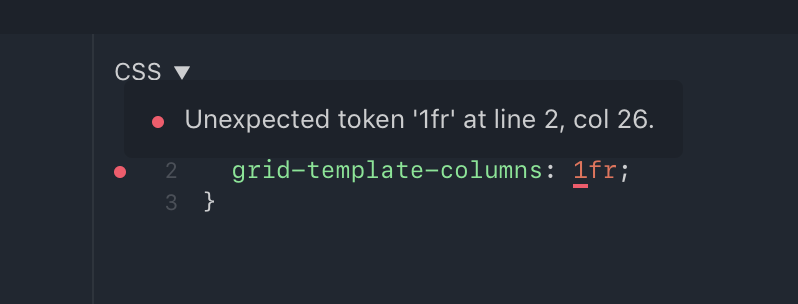 Unexpected Token Fr On Grid Template Columns Issue 734