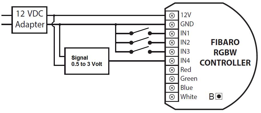 aansluiting rgbw controller - 2