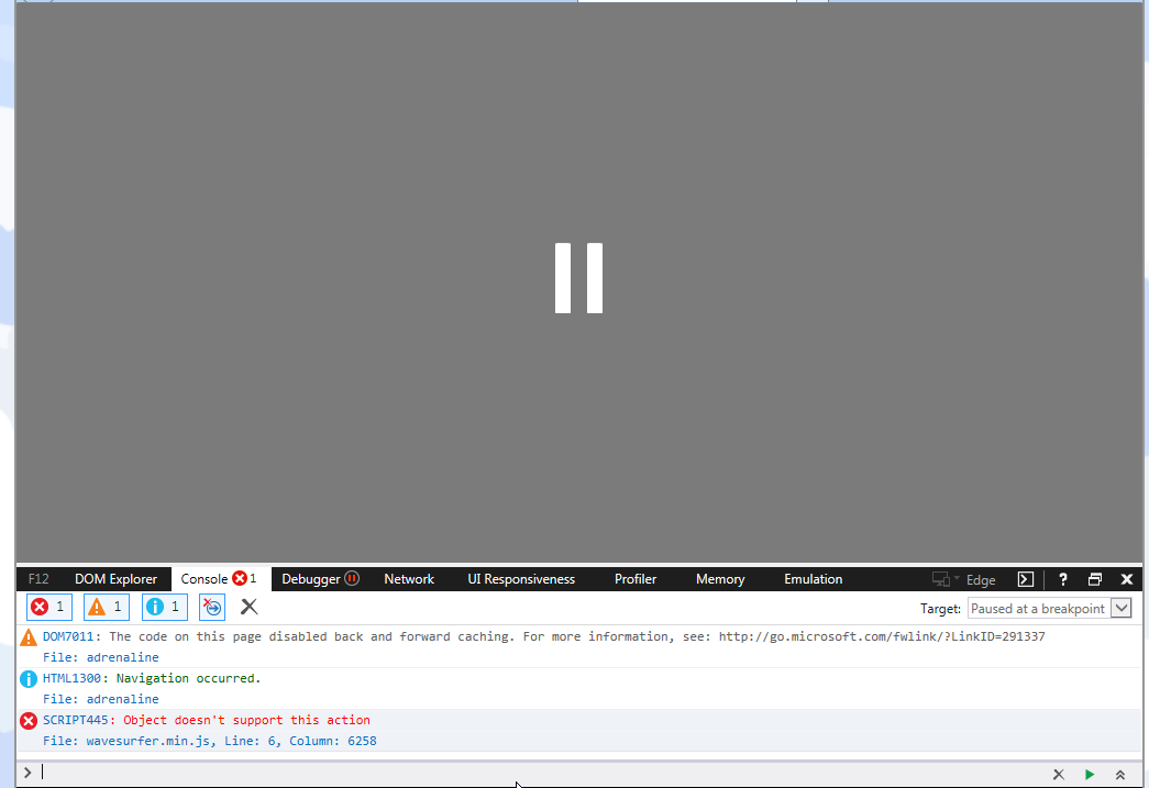 Internet Explorer 11 On Windows 7 Issue 1546 Katspaugh Wavesurfer Js Github