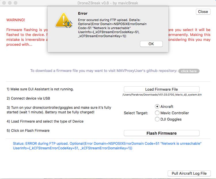 Error occured during FTP upload · Issue #20 · mavicBreak