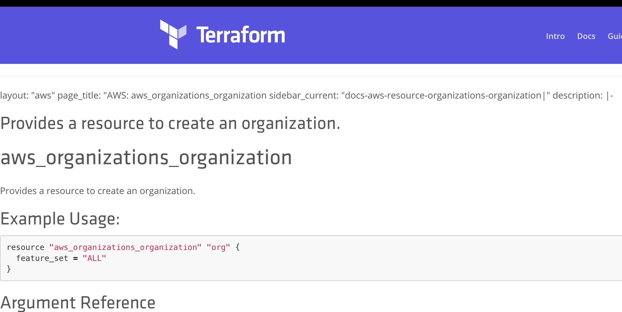 Terraform Aws Provider