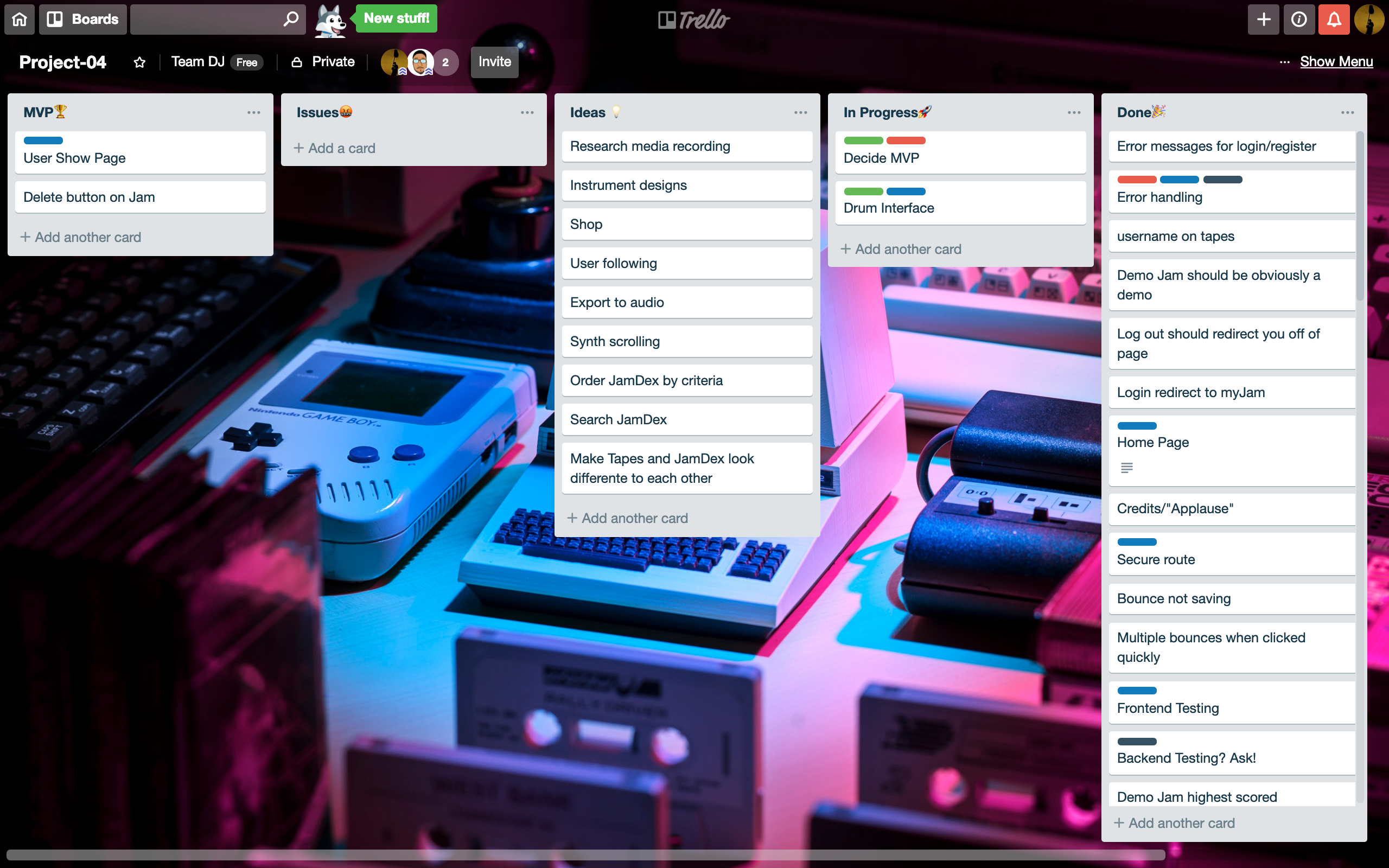 JamDex Trello