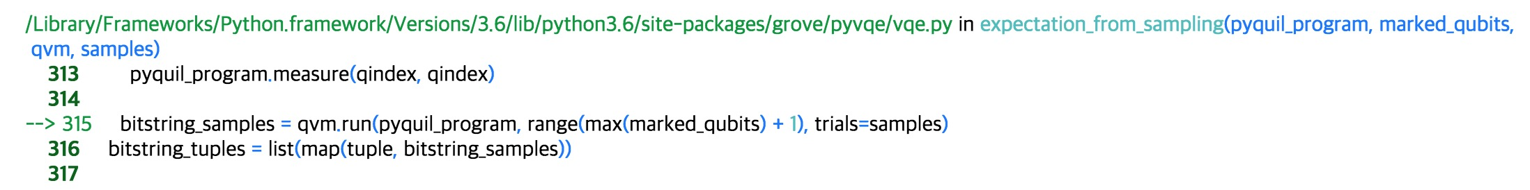 enforcing type of `classical_addresses` in `qvm wavefunction
