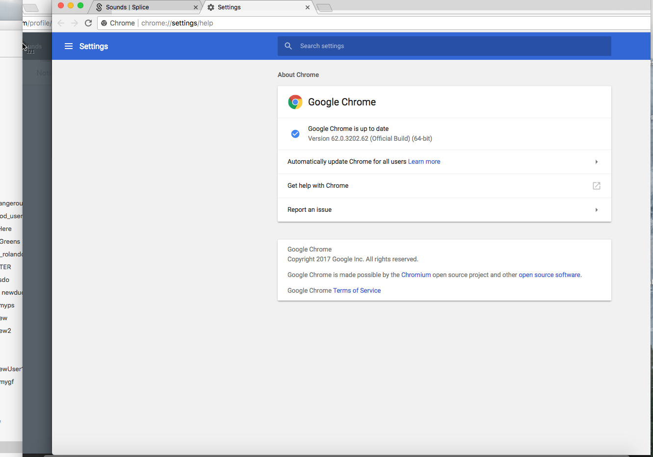New version of Chrome opens up chrome://settings/help page when a