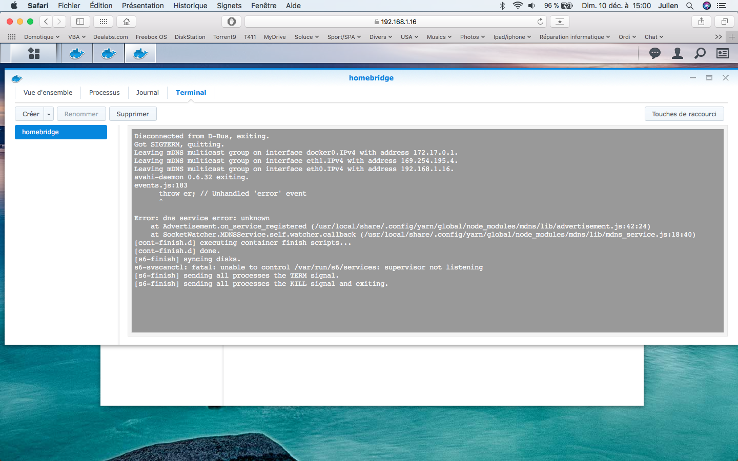 Developers - Synology: Host name conflict -