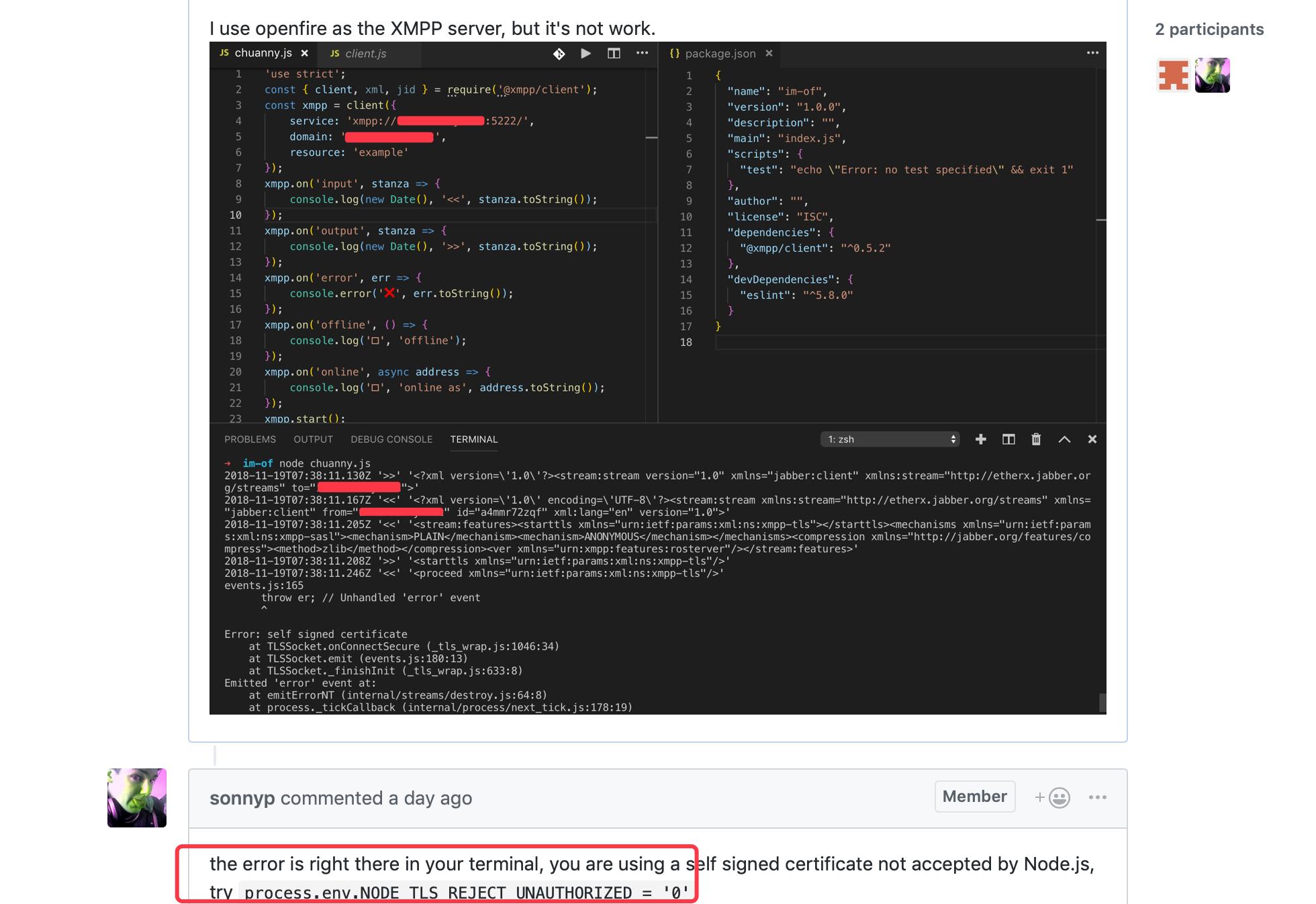 Manual handling SSL Errors eg. On self signed certificates ...