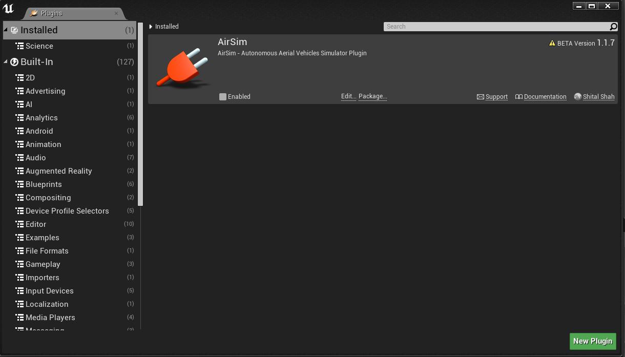 AirSim plugins can't be enabled on Ubuntu · Issue #899 · microsoft