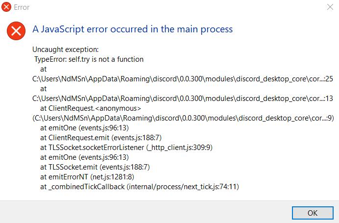 better discord java script error · Issue #687 · Jiiks