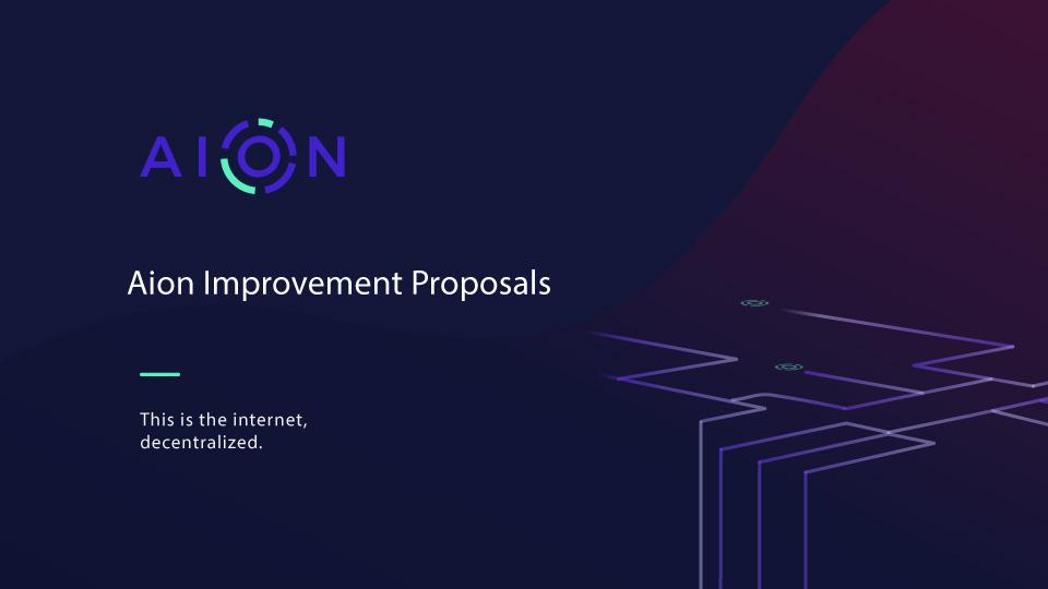 Aion Improvement Proposal