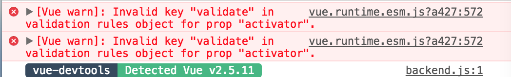 Bug Report] Vue Warning when install Vuetify · Issue #2803