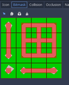 Autotiling does not directly support edge-based tilesets