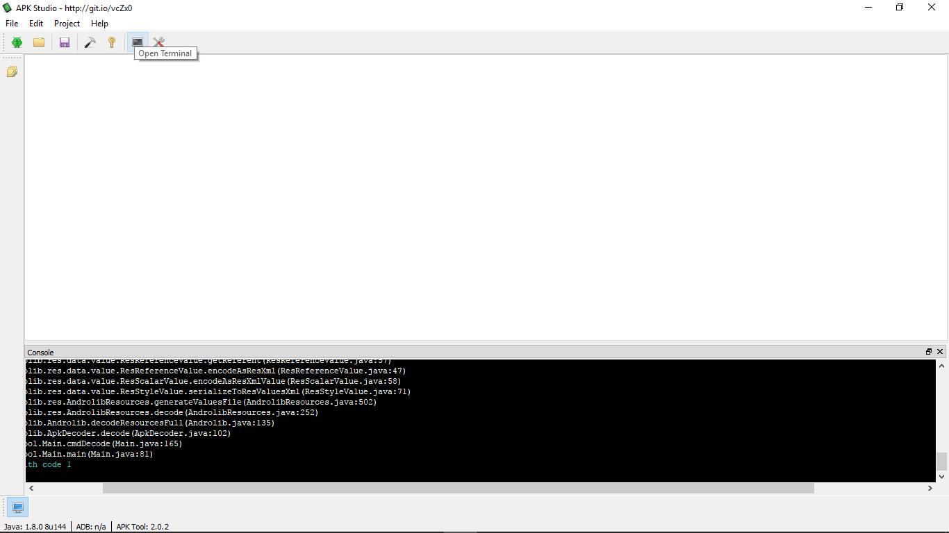 decode apk using android studio