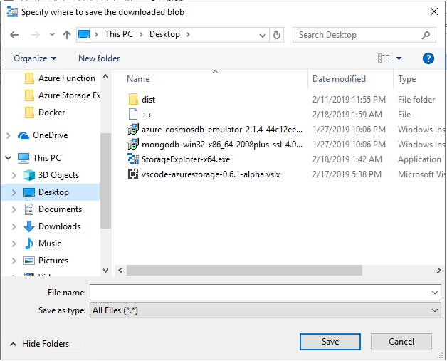 Succeed to download a file which name only containing blank