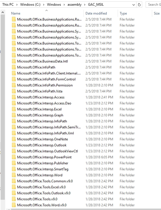 Could not load file or assembly 'office,Version = 12 0 0 0