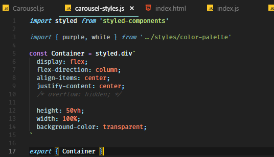 Can't seem to wrap carousel in flex box · Issue #1320