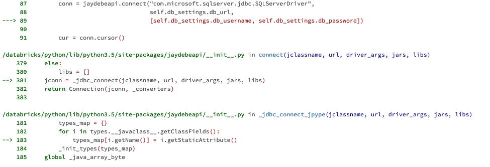 JayDeBeApi throws AttributeError: '_jpype PyJPField' object has no