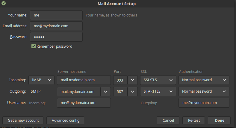 cannot deliver / send emails / login from thunderbird