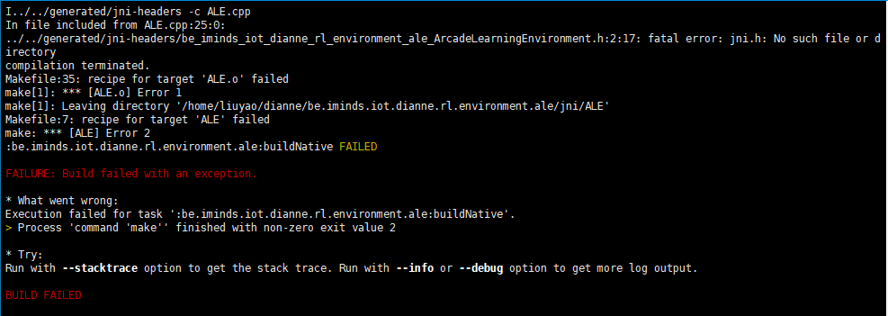I got following error when I execute /gradlew build [Any of them