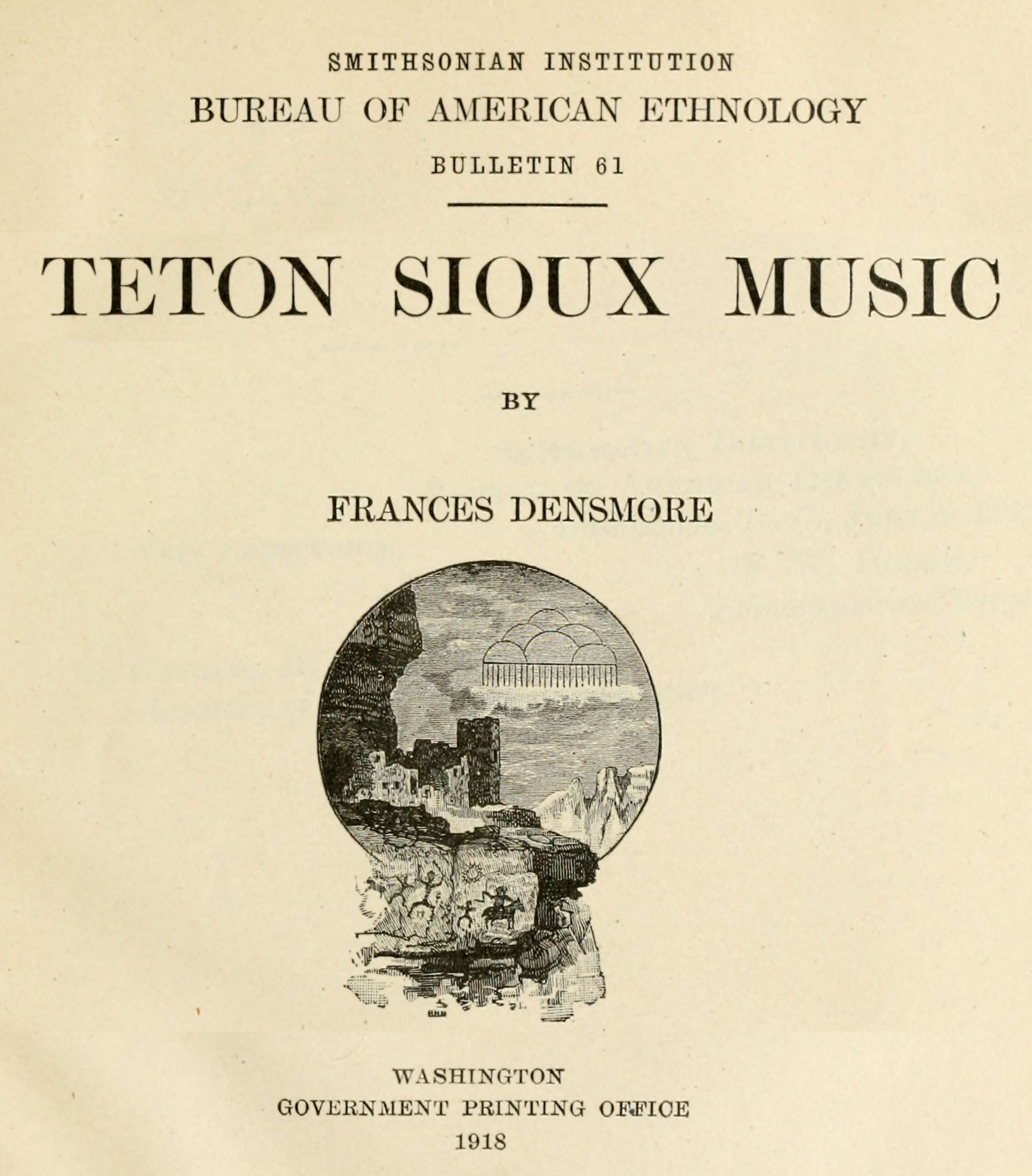 Title page of Teton Sioux Music