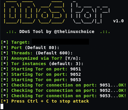GitHub - thelinuxchoice/ddostor: DDoS Tool using Multi-tor and