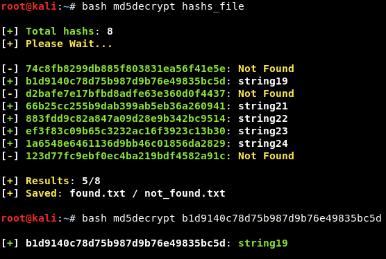 GitHub - thelinuxchoice/md5decrypt: Md5 Decrypt by hash or file