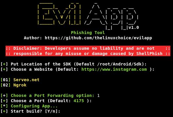 GitHub - thelinuxchoice/EvilApp: Script to generate Android