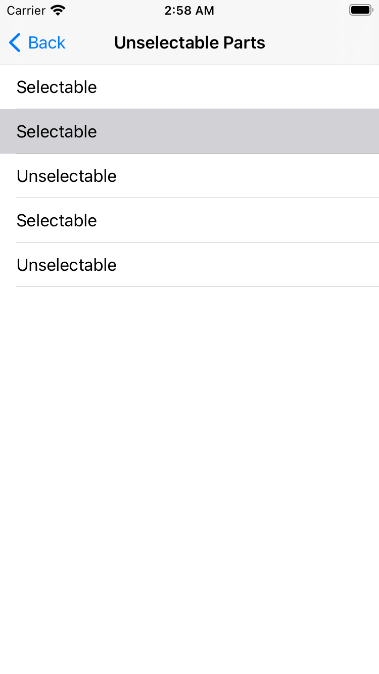 unselectable